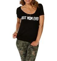 Black Best Mom Ever T-Shirt