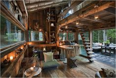 ONE-ROOM Yulan, NEW YORK CABIN IN THE WOODS, owned by fashion stylist and interior designer Scott Newkirk,A place completely disconnected from technology, with no electricity or running water, no TV or computer.