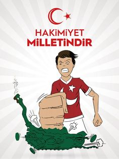 Vektörel Çizim | 15 Temmuz, Hakimiyet Milletindir Wake Up, Clip Art, Drawings, Anime, Movie Posters, Fictional Characters, Ottoman, Funny, Film Poster