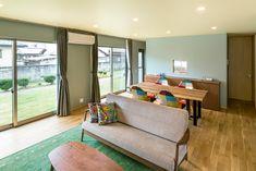 アースカラーを基調とした家・間取り(愛知県名古屋市)   注文住宅なら建築設計事務所 フリーダムアーキテクツデザイン