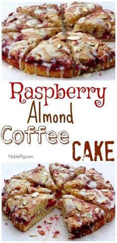 VIDEO + Recipe: Raspberry Almond Coffee Cake from NoblePig.com.