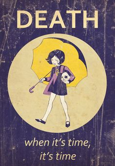 Death as the Morton Salt Girl.