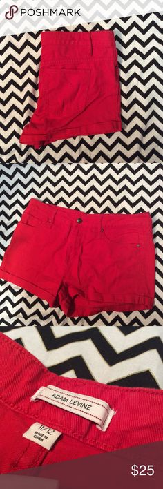 Red Jean short Size 11/12 in new condition * please note the spot in the picture is not a stain or a rip it is a pixel issue with my Camera* Adam levine  Shorts Jean Shorts