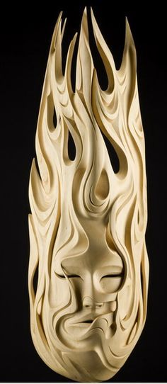 wood carving flames - Google Search