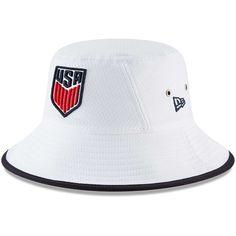 0cbadb09675 Men s US National Team New Era White Hex Team Bucket Hat