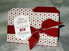 File Tab Card - great card using the Envelope Punch Board from Stampin' Up!  click for more images & my special offer #EnvelopePunchBoard #StampinUp #Christmas
