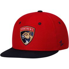 Florida Panthers Zephyr Youth Z11 Snapback Adjustable Hat - Red/Navy