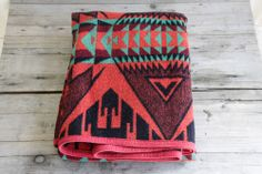 This Vintage Pendleton Trade Blanket is so beautiful.
