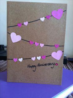 Ideas For Diy Wedding Cards Handmade Ideas – Diy 2020 Wedding Cards Handmade, Handmade Birthday Cards, Diy Birthday, Happy Birthday, New Year Cards Handmade, Birthday Bunting, Greeting Cards Handmade, Paper Cards, Diy Cards
