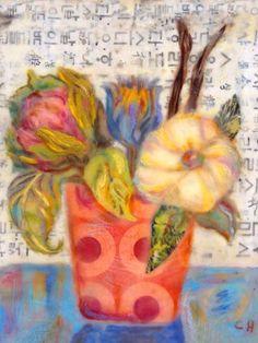 FENG SHUI FLOWERS 5 - Canvas wall art (modern home decor) at GreenBox Art + Culture
