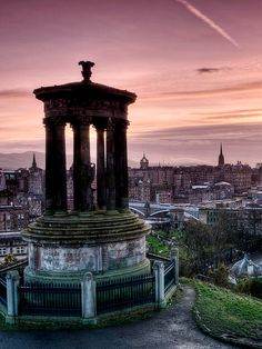 Sunset at Calton Hill ~ Edinburgh.  By Novantae on Flickr.