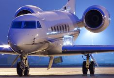 """The Gulfstream GV (G5) is business-class heavy charter jet; this aircraft provides its business and leisure travelers with an """"ultra long"""" range of more than 6500 nm and can climb up to 51,000 feet at a rate of 3,610 feet per minute. At the time of its certification, the GV had the longest range of any private business aircraft in the world. To charter a private jet or other aircraft, call one of our helpful associates at (888) 594-7141."""