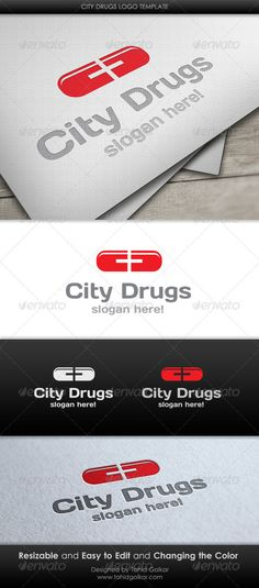 City Drugs Logo Template #GraphicRiver City Drugs Logo Template Features: Resizable 100% Vector CMYK Font used is a free font: Days ( .fontsquirrel /fonts/Days) Transparent Easy to edit Easy to Change Color Files Included: Ai File EPS_10 File EPS_CS File Layered PSD file (Vector Shape 100% Resizable) Transparent PNG file readme.txt Designed by: Tohid Golkar .tohidgolkar OCT 2012 Created: 9October12 GraphicsFilesIncluded: PhotoshopPSD #TransparentPNG #VectorEPS #AIIllustrator Layered: Yes…