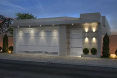 Nothing has refreshed the look of your home like new exterior lights. At Lamps Plus, we provide complete exterior lighting House Gate Design, Door Design, Exterior Design, Modern House Facades, Modern House Design, House Front, My House, House Entrance, Facade House