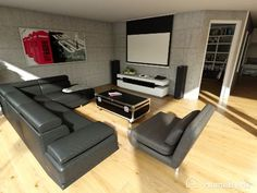 Find all your projects images, plan, realistic images on HomeByMe Space Planning, How To Plan, Couch, Flooring, Furniture, Sectional Couch, Home Decor, Room