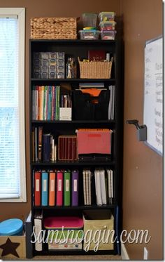 Small Space Homeschooling: Bookcase Organization (not actually homeschooling but still great for tutoring.)