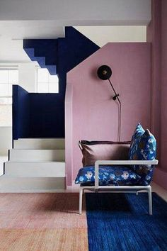 wall paint color ideas pink and blue walls