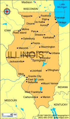 Illinois Atlas: Maps and Online Resources | Infoplease.com
