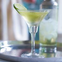 Elderflower Gimlet - 2 shots Bombay Sapphire Gin 1 shot St Germain Elderflower Liqueur 3 shots Waitrose Lime Cordial Ice cubes Slice of lime Shake (or stir) everything except the lime together with ice then strain into a martini glass. Decorate with the slice of lime. Simple!