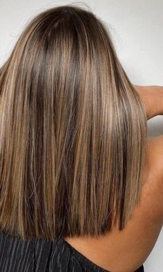 Brunette Hair With Highlights, Brown Hair Balayage, Brown Blonde Hair, Hair Color Ideas For Brunettes Balayage, Balayage Brunette, Medium Hair Styles, Long Hair Styles, Brown Hair Colors, Hair Color And Cut