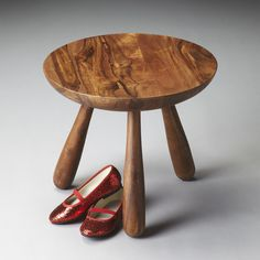 """This classic three-legged stool. Made with exotic sheesham wood, it's completed with a ruggedly refined wet sand finish.  Founded in 1930, the Butler Specialty Company thrived through the Great Depression on the basis of great quality and great value. Now in its third generation, the family-owned business remains a reliable destination for enduring furniture designs.   Butler Specialty Company   Sheesham Wood Solids   H 13.75""""  Diameter  15.75""""   12 lbs    #madeinusa #butlerspecialty"""