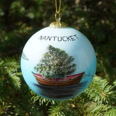 Nantucket Dory Tree Ornament | The Hub of Nantucket Christmas Decor