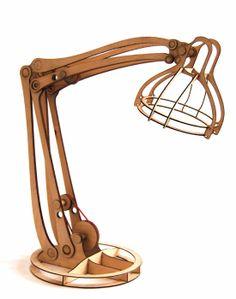 Wooden Task lamp