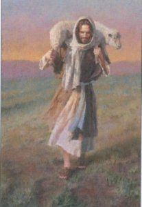 """Jesus told this parable:  """"Suppose one of you has a hundred sheep and loses one of them. Doesn't he leave the ninety-nine and go after the lost sheep?  And when he finds it, he joyfully puts it on his shoulders and goes home. Then he calls his  neighbors together and says, 'Rejoice with me; I have found my lost sheep.'  I tell you that in the same way there will be more rejoicing in heaven over one sinner who repents than over ninety-nine righteous persons who do not need to repent."""