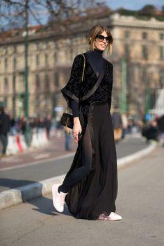 milan-fashion-week-street-style-fall-2015 Veronika Heilbrunner - HarpersBAZAAR.com