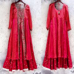 Bandhani indo western attire and glazed classy shade embellished and made appropriate this summer drippy season! Indian Embroidery, Dubai Fashion, Woman Clothing, Wedding Looks, Western Wear, Designer Wear, Indian Wear, Get The Look, Lehenga