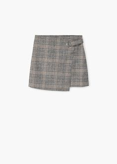 Wool fabric Checked print Decorative buckle Zip fastening on the back section Skirts With Boots, My Wardrobe, Short Skirts, Patterned Shorts, Wool, Sewing, Womens Fashion, Clothes, Wool Skirts