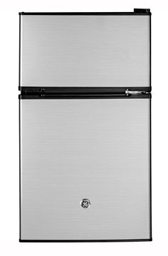 GE - GDE03GLHLB - Compact Refrigerators Stainless or Black $224.10   3.1 Cu. Ft. Capacity/ Separate True-Freezer Compartment/ Automatically Illuminates When The Fresh-Food Door Is Open/ Clear Crisper/ Partial Automatic Defrost/ ENERGY STAR Certified/ 2 Glass Shelves/ In-The-Door Can Rack/ Clean Steel Finish