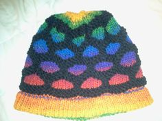 rainbow loom hats