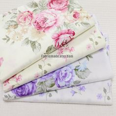 2016 New fashion Cotton Patchwork Fabric Sewing quilts Tissue pillow dress Bedding tecidos DIY Doll cloth Tissu Style Shabby Chic, Shabby Chic Fabric, Shabby Chic Crafts, Shabby Chic Cottage, Shabby Chic Decor, Cottage Farmhouse, Shabby Bedroom, Rose Cottage, Shabby Chic Kitchen Dresser
