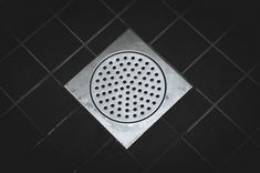 Contents hide 1 Black Tile Insert Floor Drain Design Conventional Shower Drainages Hassle-Free Cleaning Standing in the century enjoying the innovations,. Shower Drain, Shower Floor, Shower Cabinets, Plumbing Tools, Small Tiles, Floor Drains, Latest Design Trends, Black Tiles, Types Of Flooring