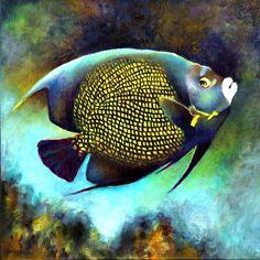 Marine Life, Coral Reef and Sea life -Diptychs and Triptychs Ocean Art, Ocean Life, Underwater Painting, Salt Water Fish, Sea Fishing, Sport Fishing, Fishing Box, Fishing Knots, Kayak Fishing