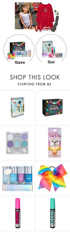 """Friday 12/15 -Cheer Holiday Party"" by my-creative-mess ❤ liked on Polyvore featuring Gymboree, claire's and Forever 21"