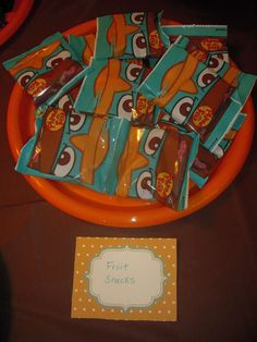Perry the Platypus/Phineas and Ferb Birthday Party Ideas   Photo 8 of 22   Catch My Party