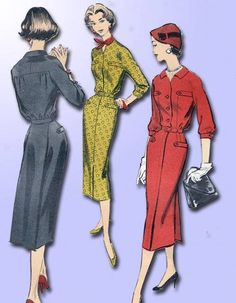 1950s Original Chic Advance Dress Pattern GR8 Lines Sz 34 B | eBay