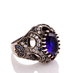 The Zerbap Lamia Ring with ZirconSapphire Stones by Rosestyle, $42.50