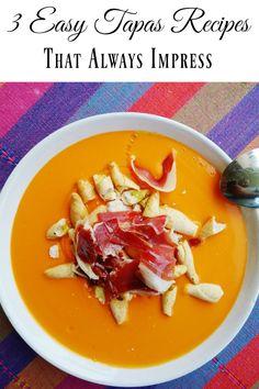 Three Easy Tapas Recipes That Always Impress – Devour Seville Food Tours Spanish Cuisine, Spanish Food, Spanish Tapas, Tapas Recipes, Vegetarian Recipes, Dinner Themes, New Cookbooks, Sevilla Spain, Dishes