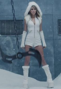 Taylor Swift's Bad Blood Music Video Style. This is my favourite look of her's from the bad blood video