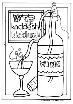 Color the seder plate first grade colors and kids for Seder coloring pages
