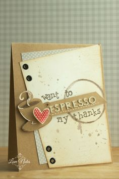 Thank you card for coffee lovers