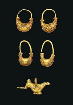 2 pairs of greek earrings 2rd century - 1st BC