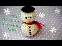DIY Bałwan z lampką LED | Snowman with LED light | DzienBezKawyTV - YouTube