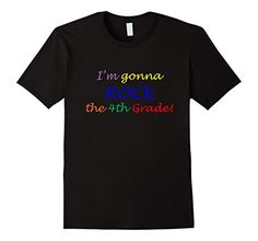 Men's I'm Gonna Rock the 4th Grade T-Shirt, Back to Schoo…