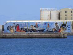 """Puerto de Las Palmas. Gran Canaria     : Grafitti """"Correillo La Palma"""" Muelle Puerto del Ro..."""