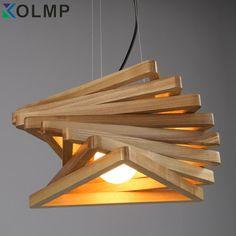 Online Shop Creative design light spiral wood pendant light burlywood dinning hall hanging lamps wooden rustic lighting fixture living room | Aliexpress Mobile