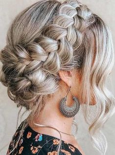 Bohemian Hairstyles, Ponytail Hairstyles, Girl Hairstyles, Wedding Hairstyles, Hair Dos, My Hair, Types Of Braids, Braided Updo, French Braid